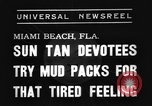 Image of Models and their mud packs Miami Beach Florida USA, 1938, second 7 stock footage video 65675069227