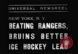 Image of National Ice Hockey League New York United States USA, 1938, second 4 stock footage video 65675069228