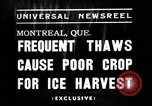 Image of ice harvest Montreal Quebec Canada, 1938, second 4 stock footage video 65675069229