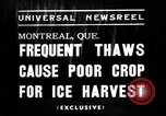Image of ice harvest Montreal Quebec Canada, 1938, second 6 stock footage video 65675069229