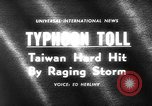 Image of Typhoon Gloria Taiwan, 1963, second 2 stock footage video 65675069242