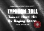 Image of Typhoon Gloria Taiwan, 1963, second 3 stock footage video 65675069242