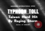 Image of Typhoon Gloria Taiwan, 1963, second 4 stock footage video 65675069242
