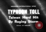 Image of Typhoon Gloria Taiwan, 1963, second 5 stock footage video 65675069242