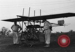 Image of foot propelled plane Baltimore Maryland USA, 1936, second 2 stock footage video 65675069255
