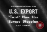 Image of Dance called The Twist Europe, 1961, second 1 stock footage video 65675069258