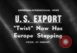Image of Dance called The Twist Europe, 1961, second 3 stock footage video 65675069258