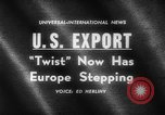 Image of Dance called The Twist Europe, 1961, second 4 stock footage video 65675069258