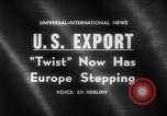 Image of Dance called The Twist Europe, 1961, second 5 stock footage video 65675069258