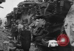 Image of collision of two trains Germany, 1961, second 10 stock footage video 65675069264