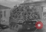 Image of U.S. forces pass through wrecked town near end of World War II Gemunden Germany, 1945, second 10 stock footage video 65675069289