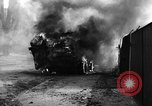 Image of Brockway B666 Treadway Bridge Transporter burning Heilbronn Germany, 1945, second 3 stock footage video 65675069291