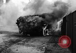 Image of Brockway B666 Treadway Bridge Transporter burning Heilbronn Germany, 1945, second 9 stock footage video 65675069291