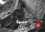 Image of train derailed Catalonia Spain, 1949, second 2 stock footage video 65675069311