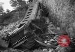 Image of train derailed Catalonia Spain, 1949, second 4 stock footage video 65675069311