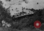 Image of train derailed Catalonia Spain, 1949, second 8 stock footage video 65675069311