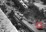 Image of train derailed Catalonia Spain, 1949, second 12 stock footage video 65675069311