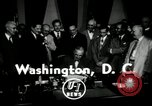 Image of Harry S Truman signs Housing Act Washington DC USA, 1949, second 2 stock footage video 65675069315