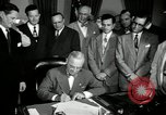 Image of Harry S Truman signs Housing Act Washington DC USA, 1949, second 5 stock footage video 65675069315
