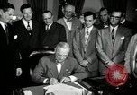 Image of Harry S Truman signs Housing Act Washington DC USA, 1949, second 6 stock footage video 65675069315