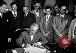 Image of Harry S Truman signs Housing Act Washington DC USA, 1949, second 7 stock footage video 65675069315