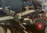 Image of OS2U Kingfisher catapulted Pacific Ocean, 1945, second 5 stock footage video 65675069342