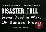 Image of Danube floods Europe, 1954, second 4 stock footage video 65675069354