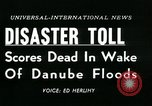 Image of Danube floods Europe, 1954, second 5 stock footage video 65675069354