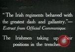 Image of Irish troops Europe, 1918, second 1 stock footage video 65675069362