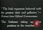 Image of Irish troops Europe, 1918, second 2 stock footage video 65675069362