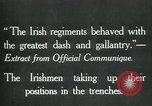 Image of Irish troops Europe, 1918, second 3 stock footage video 65675069362