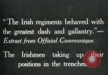 Image of Irish troops Europe, 1918, second 5 stock footage video 65675069362