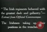 Image of Irish troops Europe, 1918, second 6 stock footage video 65675069362