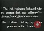 Image of Irish troops Europe, 1918, second 8 stock footage video 65675069362