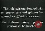 Image of Irish troops Europe, 1918, second 9 stock footage video 65675069362