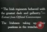 Image of Irish troops Europe, 1918, second 10 stock footage video 65675069362