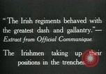 Image of Irish troops Europe, 1918, second 11 stock footage video 65675069362