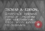 Image of Thomas Alva Edison Kearny New Jersey USA, 1928, second 9 stock footage video 65675069395