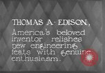 Image of Thomas Alva Edison Kearny New Jersey USA, 1928, second 10 stock footage video 65675069395