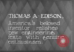 Image of Thomas Alva Edison Kearny New Jersey USA, 1928, second 11 stock footage video 65675069395