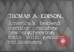 Image of Thomas Alva Edison Kearny New Jersey USA, 1928, second 12 stock footage video 65675069395