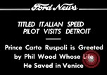 Image of Prince Carto Ruspoli Detroit Michigan USA, 1934, second 1 stock footage video 65675069405