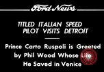 Image of Prince Carto Ruspoli Detroit Michigan USA, 1934, second 4 stock footage video 65675069405