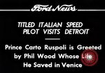 Image of Prince Carto Ruspoli Detroit Michigan USA, 1934, second 7 stock footage video 65675069405