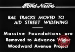Image of rail tracks moves United States USA, 1934, second 4 stock footage video 65675069406