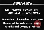 Image of rail tracks moves United States USA, 1934, second 5 stock footage video 65675069406