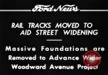 Image of rail tracks moves United States USA, 1934, second 8 stock footage video 65675069406