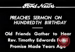 Image of Reverend Timothy Edwards Washington DC USA, 1934, second 9 stock footage video 65675069407