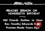Image of Reverend Timothy Edwards Washington DC USA, 1934, second 10 stock footage video 65675069407