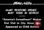 Image of Mary Pickford Detroit Michigan USA, 1934, second 1 stock footage video 65675069408